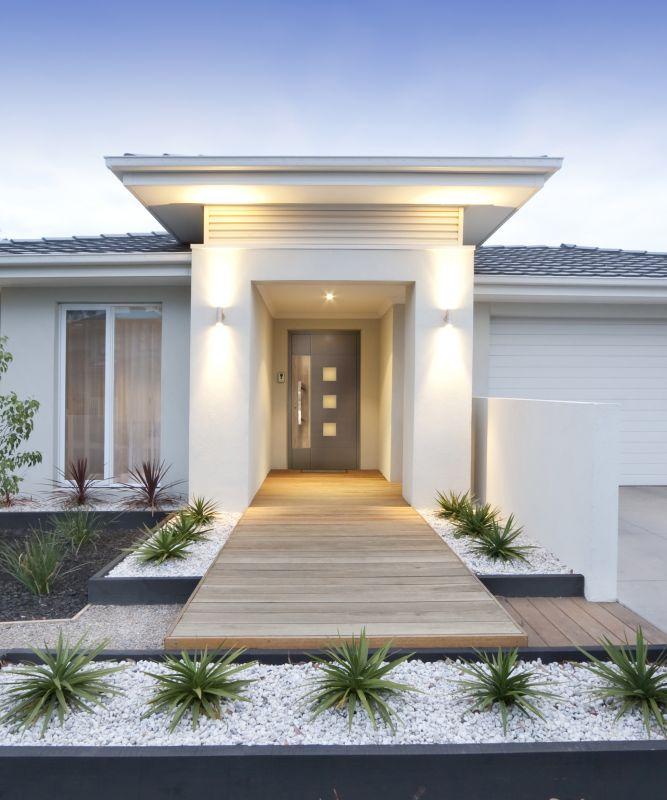 White contemporary house exterior vertical
